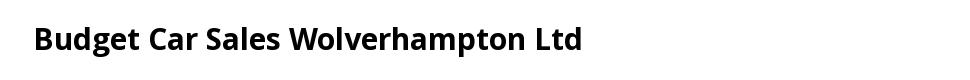 Budget Car Sales Wolverhampton Ltd