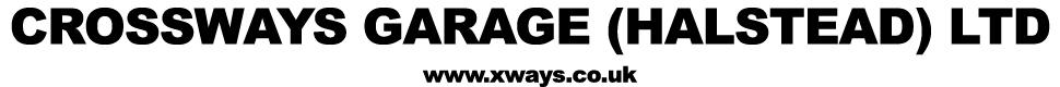 Crossways Garage Ltd - Halstead